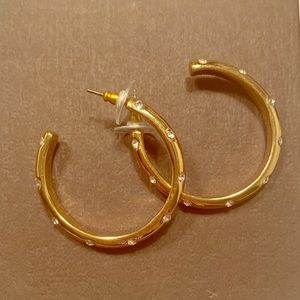 JCrew Gold Studded Hoops
